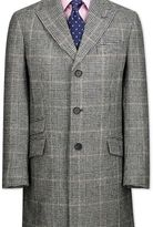 Charles Tyrwhitt Grey check wool Epsom overcoat