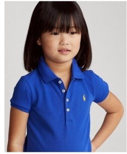Polo Ralph Lauren Little Girls Stretch Pique Polo Shirt