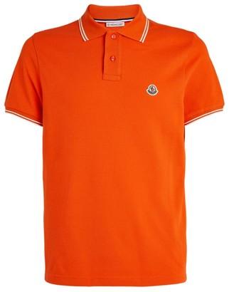 Moncler Contrast-Trim Logo Polo Shirt