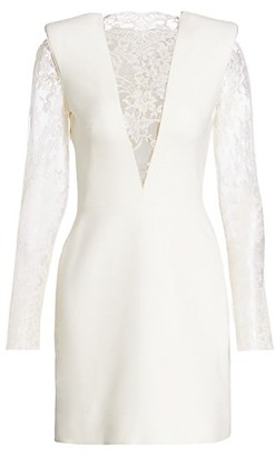 Alexander McQueen Lace Structured Cocktail Dress