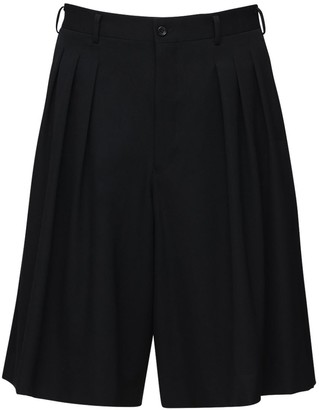 Comme des Garcons Pleated Wool Gabardine Shorts