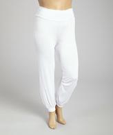White Harem Pants - Plus