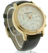 Raymond Weil 4830 Maestro Chronograph Silver Brown Leather 41.5mm Mens Watch