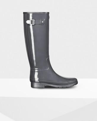 Hunter Women's Refined Slim Fit Tall Gloss Rain Boots
