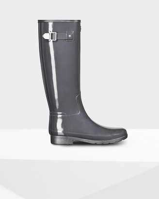 Hunter Women's Refined Slim Fit Tall Gloss Rain Boots