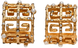 Givenchy Gold Pearl 4G Earrings