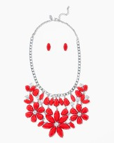 Charming charlie Flower Blooms Necklace Set