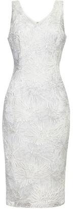 Adrianna Papell Metallic Soutache Dress