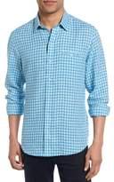 Zachary Prell Men's Althoff Plaid Linen Sport Shirt