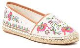 Gianni Bini Pema Floral-Embroidered Canvas Espadrille Flats