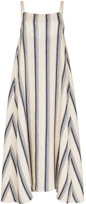 Missing You Already Vertical-Stripe Sleeveless Midi Dress