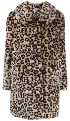 Shrimps Oversized Leopard Coat