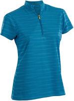 Asstd National Brand Ripple Short Sleeve Plus Short Sleeve Jacquard Jacquard Polo Shirt Plus