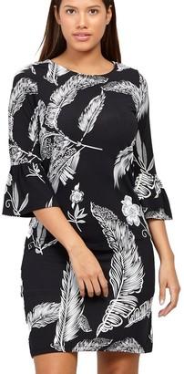 M&Co Izabel leaf print shift dress