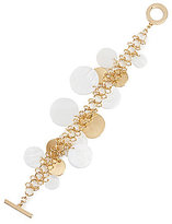Anne Klein Mother-of-Pearl Shaky Disc Toggle Bracelet
