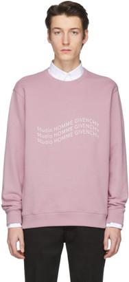 Givenchy Purple Logo Wave Sweatshirt