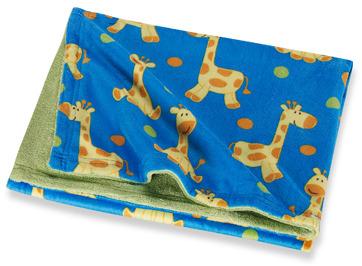 NoJo Sweet Jungle Giraffe Printed Velboa Coral Fleece Blanket
