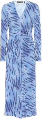Rotate by Birger Christensen Sierra tiger-print jersey midi dress