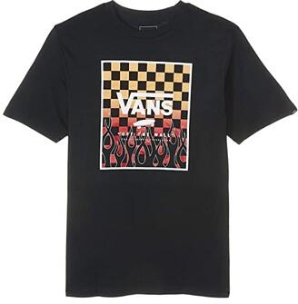 Vans Kids Print Box Tee (Big Kids) (White/White Dimension) Boy's T Shirt