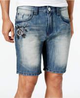 "INC International Concepts I.n.c. Men's Embroidered Denim 10"" Shorts"