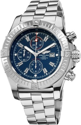 Breitling Men's A1337011/C757 Super Avenger Blue Chronograph Dial Watch