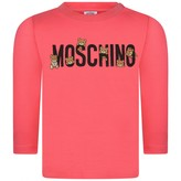 Moschino Girls Pink Teddy Logo Top