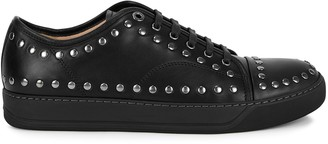 Lanvin DBBI black studded leather sneakers