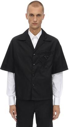 Prada Nylon Gabardine Bowling Shirt
