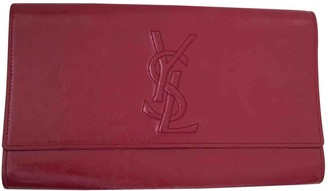 Saint Laurent Sac de Jour Burgundy Patent leather Clutch bags