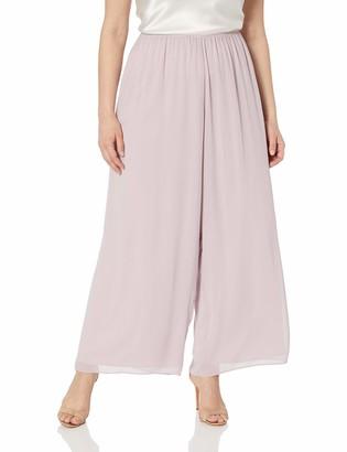 Alex Evenings Women's Plus Size Dress Pants and Chiffon Blouse