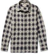 Remi Relief Checked Cotton-Dobby Shirt
