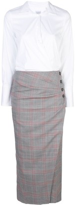 Sara Roka Side Button Dress