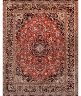 """Pasargad Hand Knotted Wool Red/Blue Rug Rug Size: Runner 2'6"""" x 8'"""