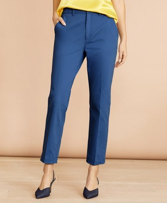 Brooks Brothers Stretch Cotton Twill Ankle Pants
