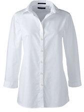 Lands' End Women's Supima Dress Cardigan Sweater-White