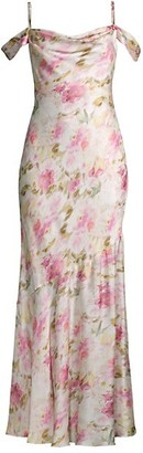 Fame & Partners The Leanna Floral Print Dress
