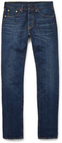 Levi's - 501 Customised Slim-Fit Denim Jeans