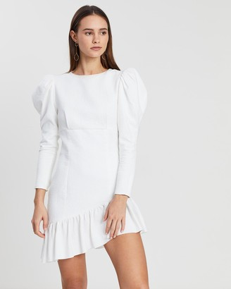 Asilio Textured Ruffle Hem Dress