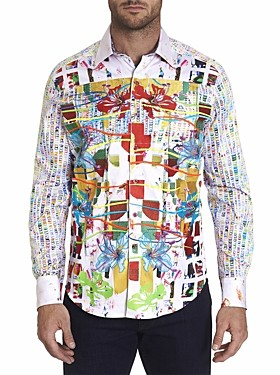 Robert Graham Tropic Victory Limited Edition Cotton Geo Print Classic Fit Button-Up Shirt