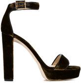 Jimmy Choo 'Holly 120' sandals - women - Leather/Velvet - 37.5