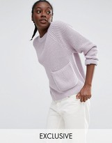 Monki Exclusive Pocket Detail Knitted Sweater