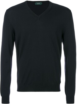 Zanone slim V-neck sweater