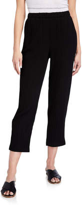 Eileen Fisher Plus Size Tapered Organic Cotton Gauze Ankle Pants