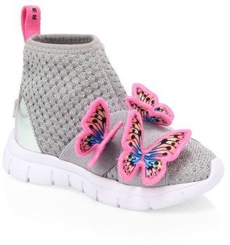 Sophia Webster Baby's, Little Girl's & Girl's Riva Butterfly Embellished Sock Sneakers