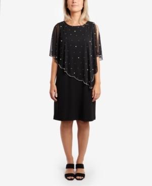 MSK Embellished Overlay Sheath Dress