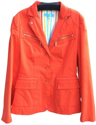Escada Orange Cotton Jacket for Women