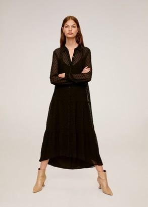 MANGO Plumeti long dress