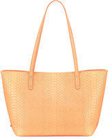 GiGi New York Taylor Snake-Embossed Mini Tote Bag, Orange