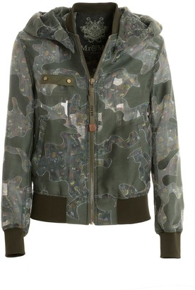 Mr & Mrs Italy Camouflage Embroidered Organdy Bomber
