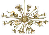 Jonathan Adler Sputnik Chandelier in Brass by Open Box